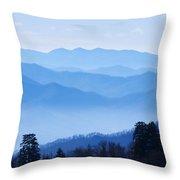 Smoky Mountains Throw Pillow