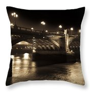 Southwark Bridge London Throw Pillow