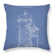 Space Capsule Patent From 1963 Throw Pillow