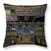 Space Shuttle Cockpit Throw Pillow