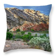 Spring Storm Over Split Mountain Dinosaur National Monument Throw Pillow