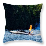 Squirt 2 Turbine Jet Boat Throw Pillow