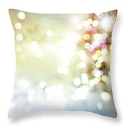 Starry Background Throw Pillow
