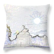 Statue Of Angel Of Peace Atop The Wellington Arch Throw Pillow