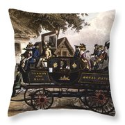 Steam Carriage Throw Pillow