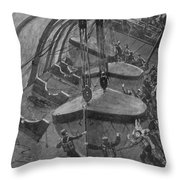 Steamship Accident, 1914 Throw Pillow