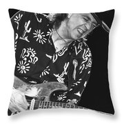 Guitarist Stevie Ray Vaughan Throw Pillow