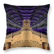 Stormy Keep Throw Pillow