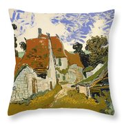 Street In Auvers-sur-oise Throw Pillow