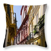 Streets Of Seville - Magic Colours Throw Pillow