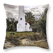 Sturgeon Point Lighthouse Throw Pillow