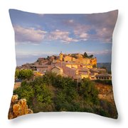 Sunrise Over Roussillon Throw Pillow
