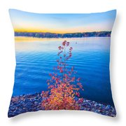 Sunset At Lake Wylie Throw Pillow
