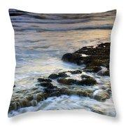 Sunset At The Mediterranean Sea Throw Pillow