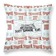 Superbowl Poster Throw Pillow