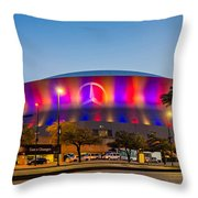 Superdome Throw Pillow