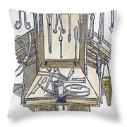 Surgical Instruments Throw Pillow