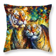 Sweetness Throw Pillow by Leonid Afremov