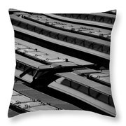Switch Yard For Box Cars Throw Pillow