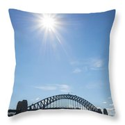 Sydney Harbour Bridge In Australia  Throw Pillow