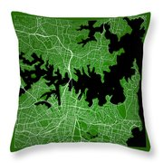 Sydney Street Map - Sydney Australia Road Map Art On Color Throw Pillow