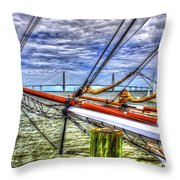 Pointing South Throw Pillow