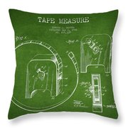 Tape Measure Patent Drawing From 1906 Throw Pillow