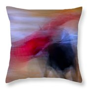 Tauromaquia Abstract Bull-fights In Spain Throw Pillow by Guido Montanes Castillo