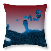 Tem Of Hiv Throw Pillow