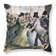 Temperance Movement, 1848 Throw Pillow