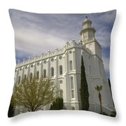 Temple Saint George Utah Throw Pillow
