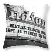 Terre Haute - Indiana Theater Throw Pillow