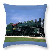 Texas State Railroad Throw Pillow