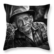 Textile Merchant Throw Pillow