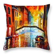 The Canals Of Venice Throw Pillow