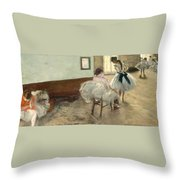 The Dance Lesson Throw Pillow