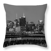 The Empire State Building Pastels Throw Pillow