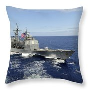 The Guided-missile Cruiser Uss Throw Pillow