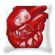 The Human Heart Throw Pillow