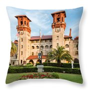 The Lightner Museum Formerly The Hotel Alcazar St. Augustine Florida Throw Pillow