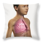 The Lungs Within The Body Pre-adolescent Throw Pillow