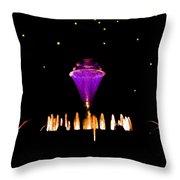 Magical Fountain Throw Pillow