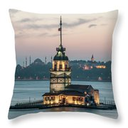 The Maiden's Tower Throw Pillow