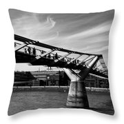 The Millenium Bridge Throw Pillow
