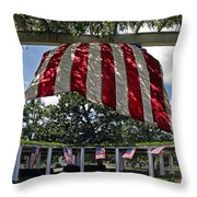 The Old Amphitheater In Arlington Throw Pillow