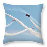 The Red Arrows Eastbourne Throw Pillow