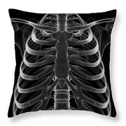 The Rib Cage Throw Pillow