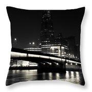 The Shard And London Bridge Throw Pillow