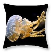 The Spotted Jelly Or Lagoon Jelly Mastigias Papua Throw Pillow