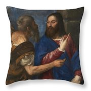 The Tribute Money Throw Pillow
